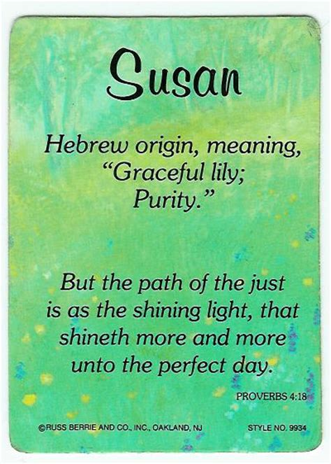 the meaning of the name fubar susie s photo the meaning of the name susan