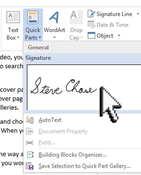 sign a word document with your signature steve docs