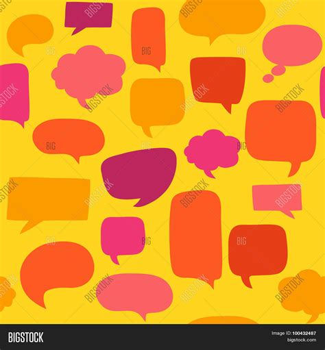 speech pattern en français speech bubbles seamless pattern vector photo bigstock