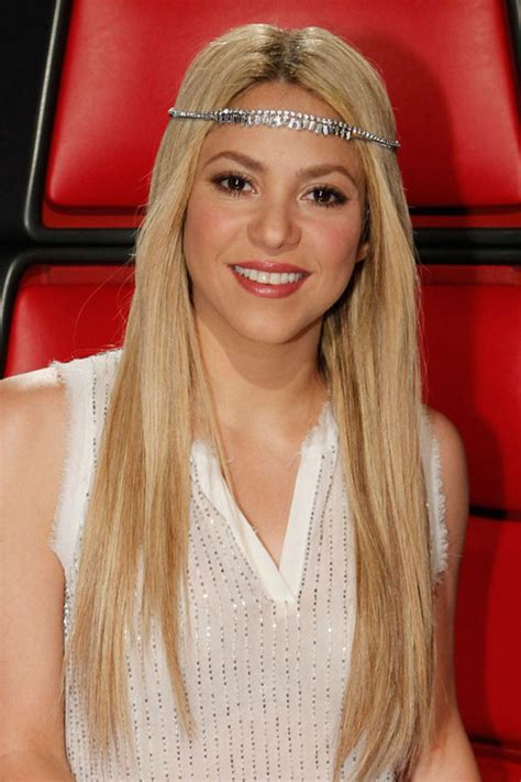 what color is shakira hair 2014 shakira with straight hair