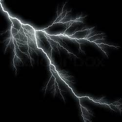 Lightning Black Bolts Of Lightning Isolated A Black Background