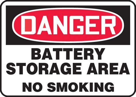 fuel storage no smoking sign osha danger sku s 1846 battery storage area no smoking osha danger safety sign