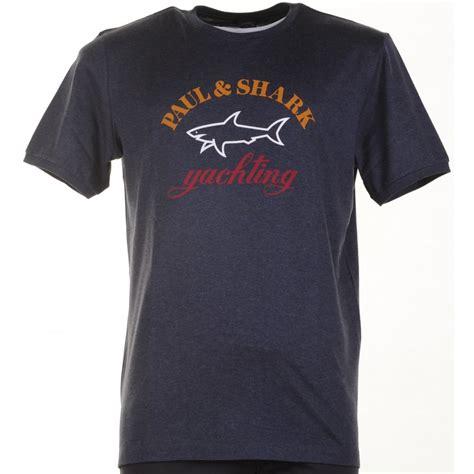 T Shirt Bahan Cotton Logo Shark paul shark navy or grey t shirt from armstrongs of worcester ltd