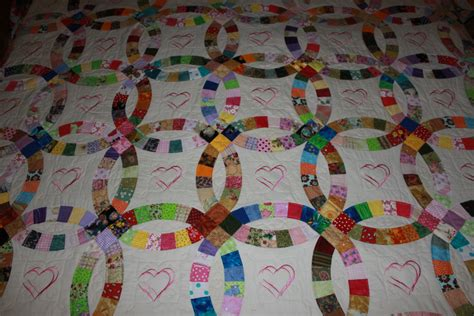 Wedding Ring Quilts King Size by Heirloom Embroidered Wedding Ring Quilt Wedding
