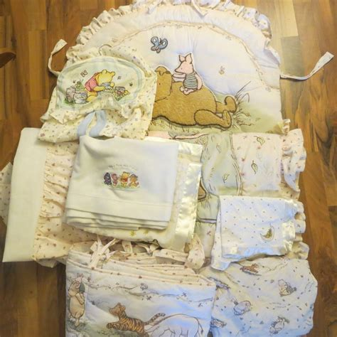 Classic Pooh Nursery Decor Classic Winnie The Pooh Crib Nursery Bedding Stacker 9 Items Nursery Bedding The O