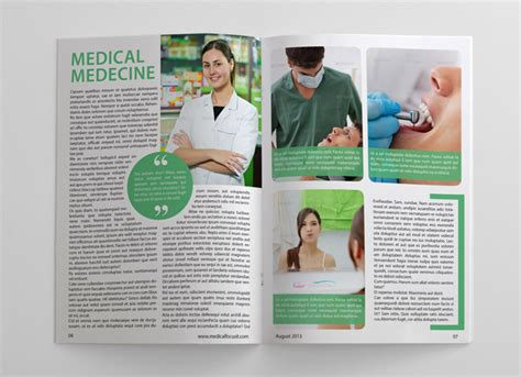 medical design magazine health and medical magazine template graphicriver print