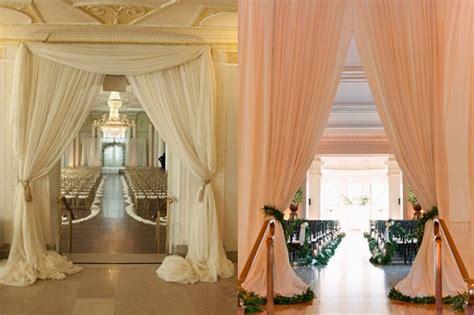 wedding draping decor ceremony decor glendalough manor bride