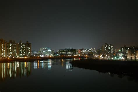 Jinju City And The Nam River Night Landscape Mapio Net River City Landscaping