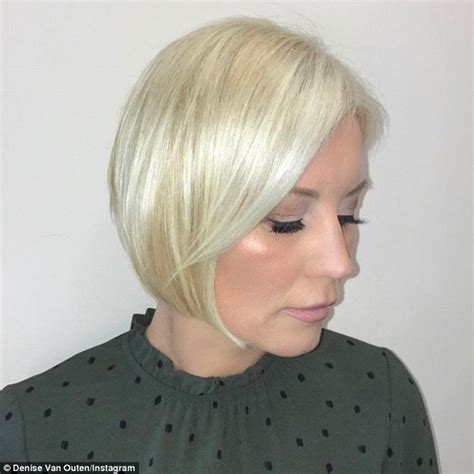 cascaded bob cascaded bob cascaded bob denise van outen debuts new