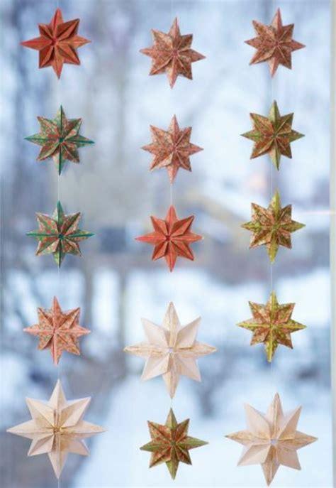 fensterbilder weihnachten sterne basteln sterne basteln f 252 r weihnachten mit origami anleitung