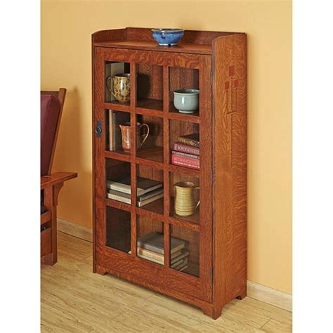 arts and crafts bookshelves arts and crafts bookcase woodworking plan from wood magazine