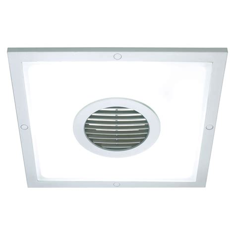10 inch exhaust fan heller 10 inch 2 in 1 square exhaust fan and light silver