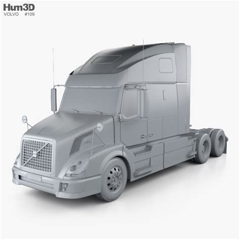 volvo truck 2011 models volvo vnl 660 tractor truck 2011 3d model hum3d
