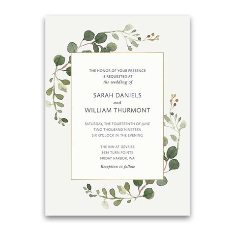 Wedding Invitations Greenery by Bohemian Wedding Invitations Boho Chic Greenery Gold