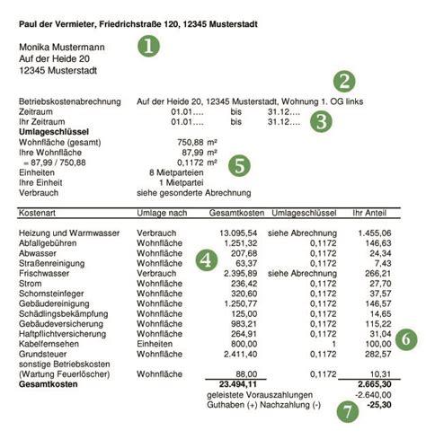 Was Beinhalten Nebenkosten Bei Einer Mietwohnung by Wie Gehe Ich Als Vermieter Eine Betriebskostenabrechnung An