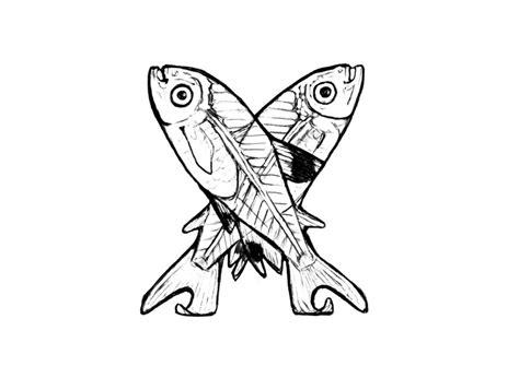 kleurplaat x x ray fish afb 24821