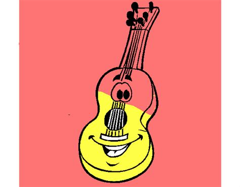 spanish guitar coloring page colored page spanish guitar painted by user not registered