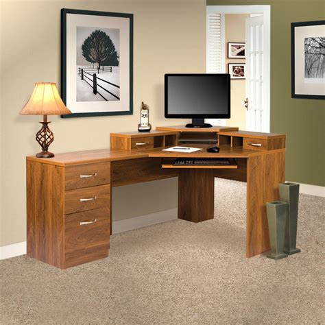 Corner Office Desk For Home Os Home Office Furniture Office Adaptations Reversible Corner Computer Desk Reviews Wayfair