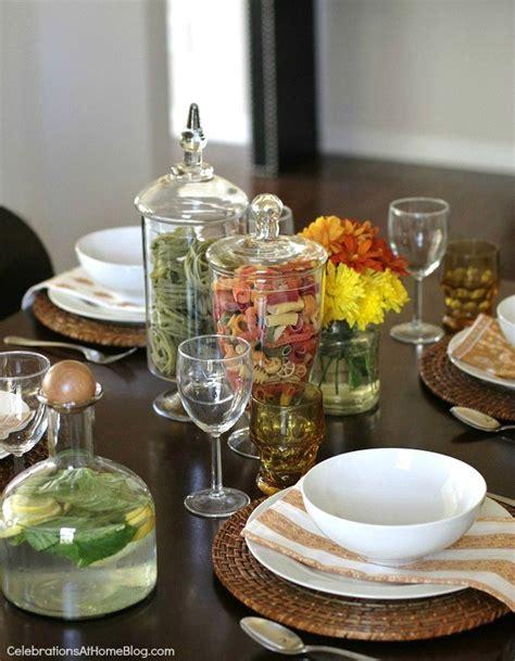 italian dinner table decorations italian style dinner