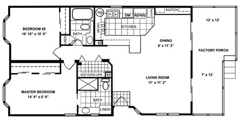 jacobsen homes floor plans 964 sq ft manufactured home floor plan
