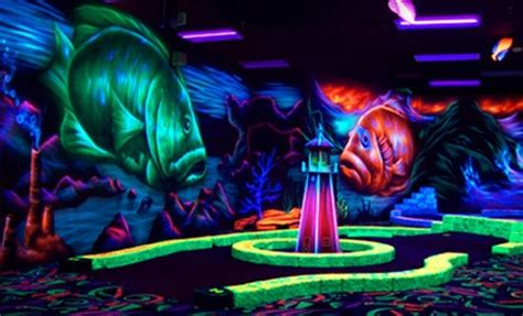 black light bowling near me indoor mini golf and bowling oceans 18 mini golf groupon