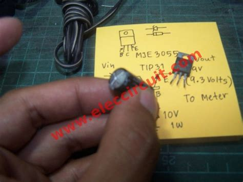 electrolytic capacitor failure pin 7805 5 volts power regulator on