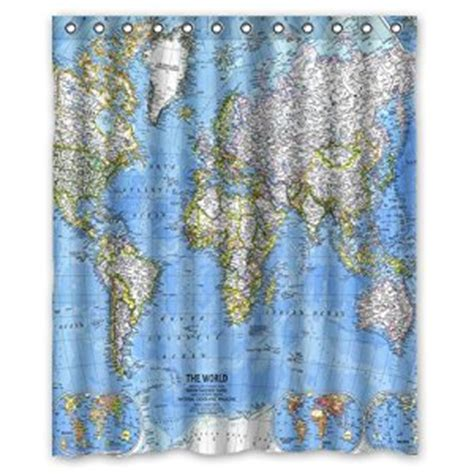 60 inch shower curtain com generic world map shower curtain 60 inch by