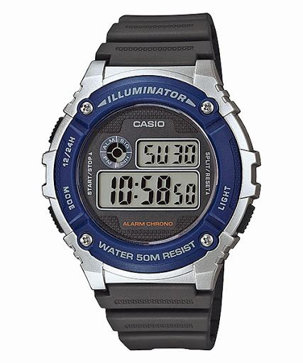 Jam Tangan Pria Casio W 216h 3bvdf Original jual jam tangan casio standard w 216h jam casio jam tangan casio jual casio jam tangan