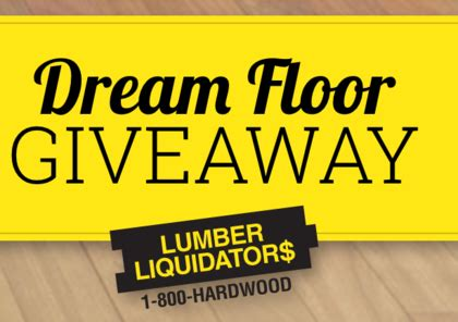 Dream Floor Giveaway Sweepstakes - diy lumber liquidators dream floor giveaway sun sweeps