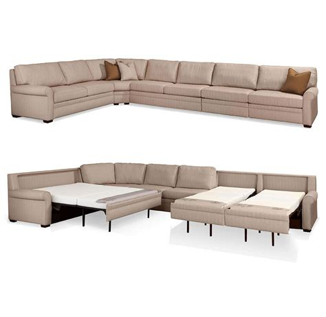 sectional sleeper sofa sectional comfort sleeper sofas by leather