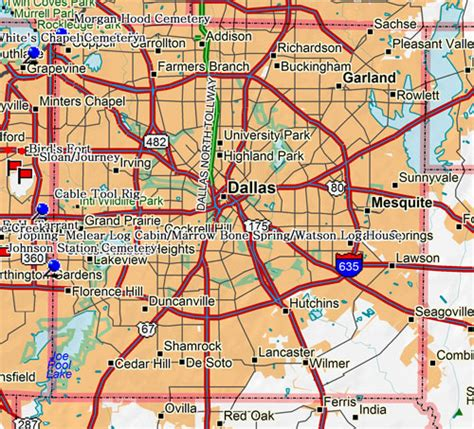 map for dallas transit south non emergency and personal