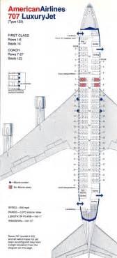 American Airlines Floor Plan Vintage Airline Seat Map American Airlines Boeing 707 123
