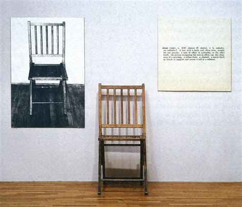 Define Chair Person by The Milanese 187 One And Three Chairs Joseph Kosuth 1965