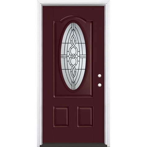 Shop Masonite Calista Decorative Glass Left Hand Inswing Decorative Glass Entry Doors
