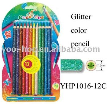 glitter color pencil yhp1016 12c buy glitter color