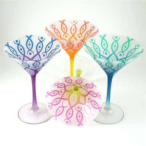 martini glass painting 1000 images about painted martini glasses on pinterest