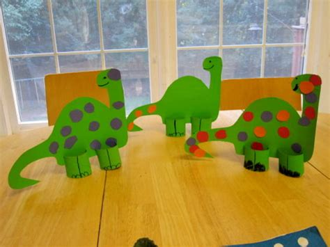 Paper Dinosaur Craft - 16 dinosaur craft projects kiddy crafty