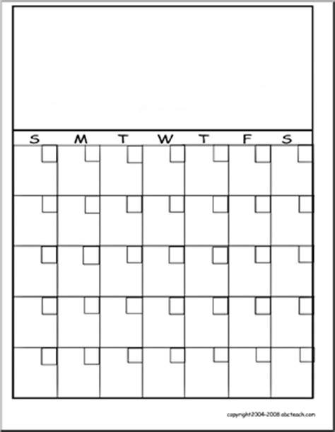 blank monthly calendars teachers calendar template ideas for kindergarten pinterest