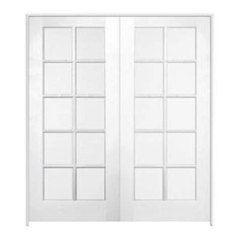 interior double doors home depot jeld wen 48 in x 80 in pine unfinished 10 lite wood