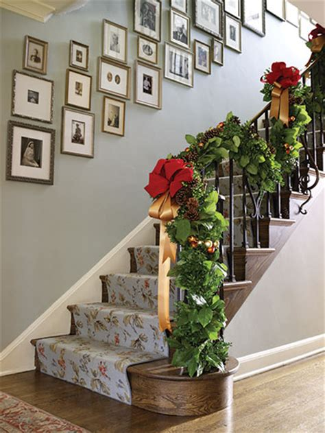 decorating staircase christmas stairs on pinterest christmas stairs