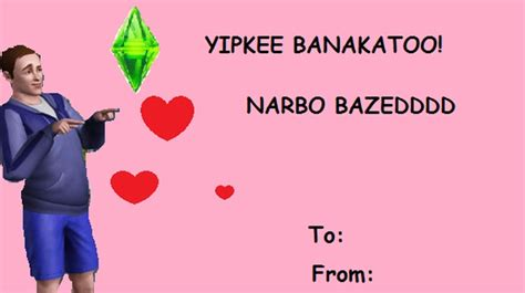 comic sans valentines day cards 21 valentines for your crush the sims i