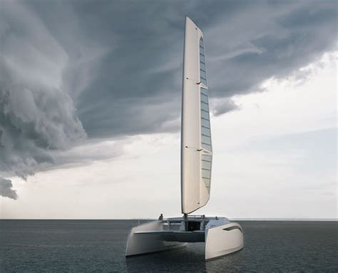 catamaran without sails zero sail concept sailing catamaran features modern racing