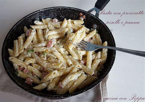 pasta con panna da cucina pasta con prosciutto piselli e panna in cucina con peppa