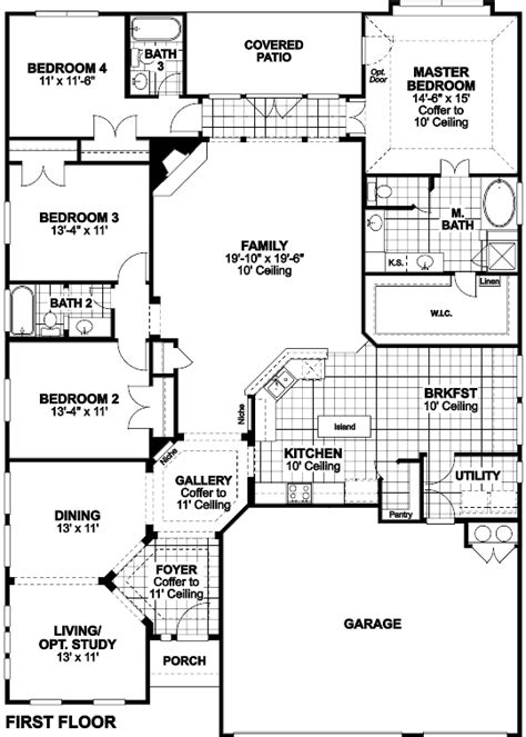ryland floor plans sedona single family home floor plan in san antonio tx