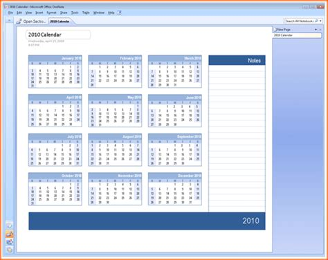 templates for onenote 2010 6 microsoft office calendar templates bookletemplate org
