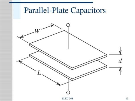 capacitance of parallel plate capacitor depends on ppt energy storage elements capacitance and inductance powerpoint presentation id 392142