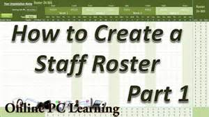 on call roster template roster how to create a roster template part 1 roster
