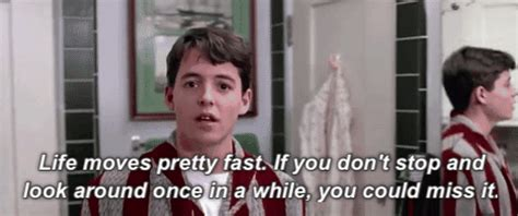 domino s life moves fast video creativity online ferris bueller life gifs find share on giphy