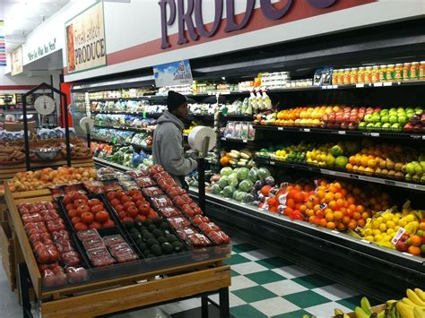 produce section of grocery store nudging detroit program doubles food st bucks in