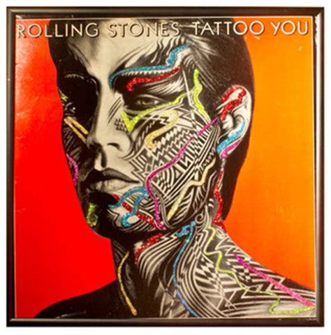 tattoo you rolling stone glittered rolling stones tattoo you album contemporary